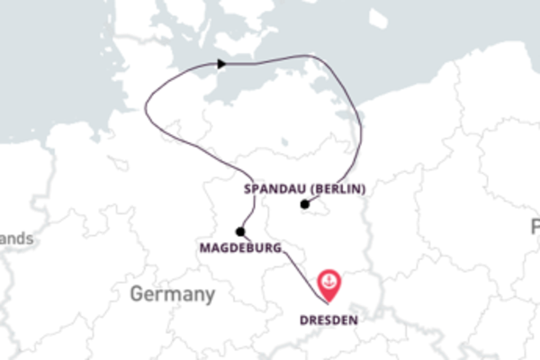 7 day cruise on board the MS Elbe Princesse from Dresden