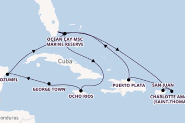 George Town depuis Miami (Floride) pour une croisière de 15 jours