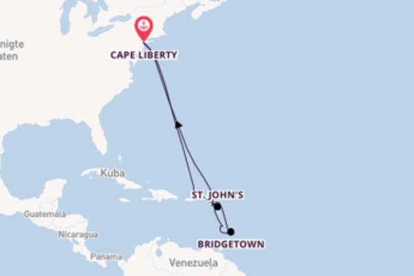 Von Cape Liberty über St. John's in 13 Tagen