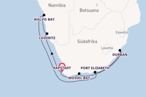 Das bunte Treiben in der Hauptstadt von Südafrika
