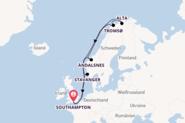 Southampton und Alta entdecken