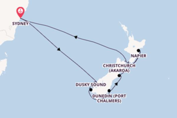 Cruising from Sydney via Napier
