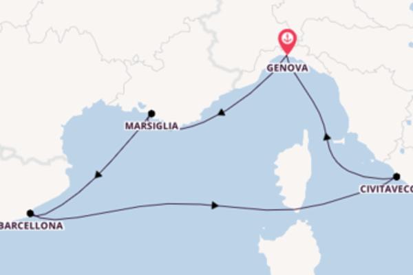 6 giorni verso Genova passando per Marsiglia