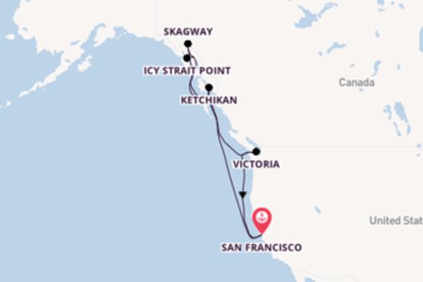 Crociera da San Francisco verso Juneau