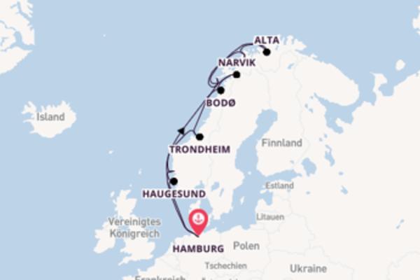 Genießen Sie 15 Tage Haugesund und Hamburg