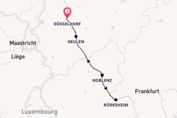 Geniet van een 3-daagse cruise naar Düsseldorf