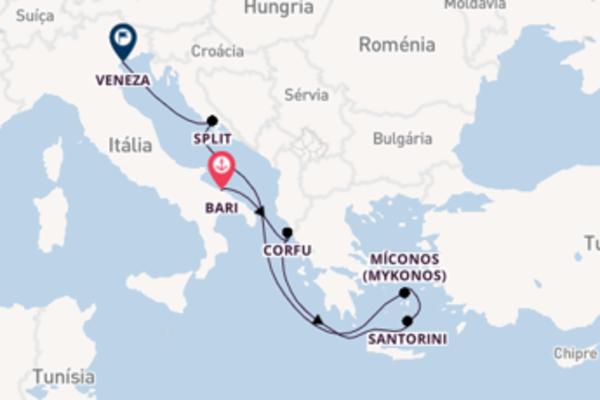 A bordo do Costa Luminosa em uma viagem de 7 dias