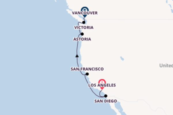 8 day expedition from Los Angeles to Vancouver