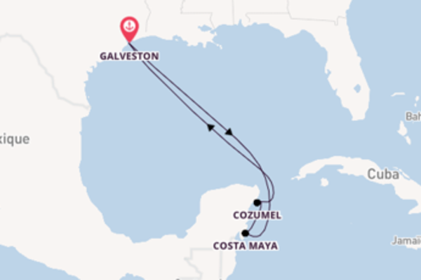 Admirez avec Disney Cruise Line, la destination: Costa Maya