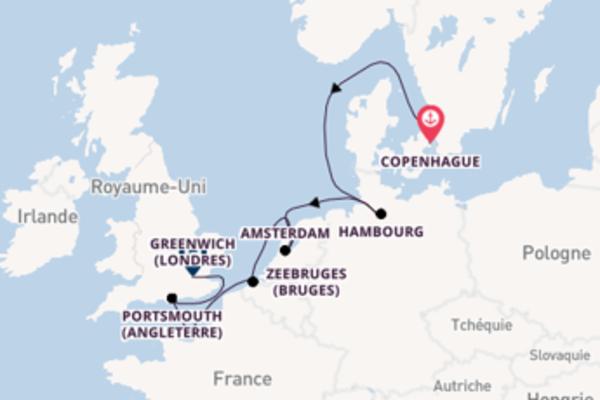 12 jours de navigation à bord du bateau Silver Spirit vers Greenwich