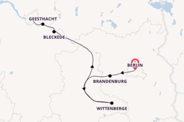 Elbe Winterpanorama Kurs Hamburg