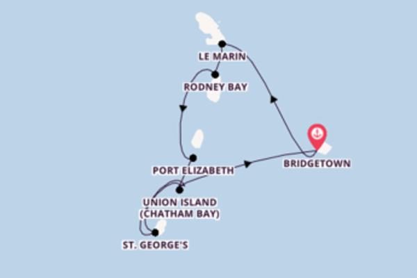 Genießen Sie 8 Tage Rodney Bay und Bridgetown