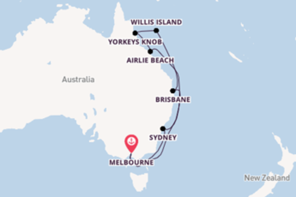 13 day cruise from Melbourne
