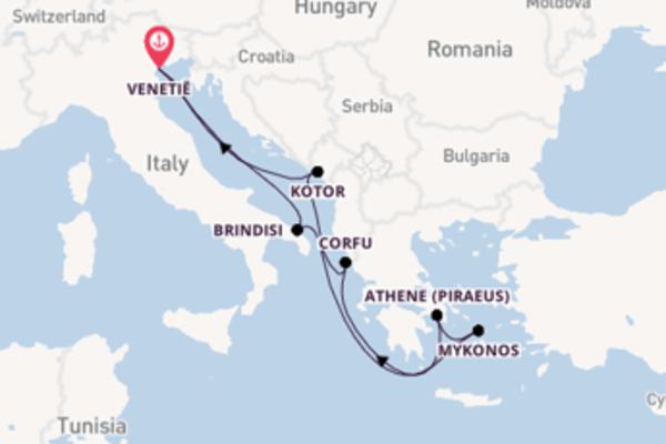 8-daagse droomcruise vanuit Venetië