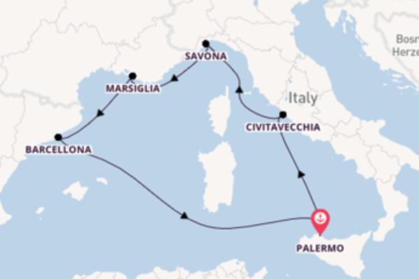 Crociera di 7 giorni a bordo di Costa Toscana