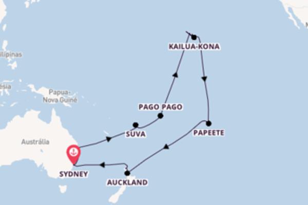 Navegue a bordo do Sea Princess em 36 dias