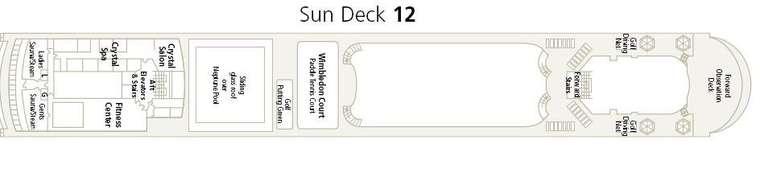Crystal Symphony Sun Deck 12