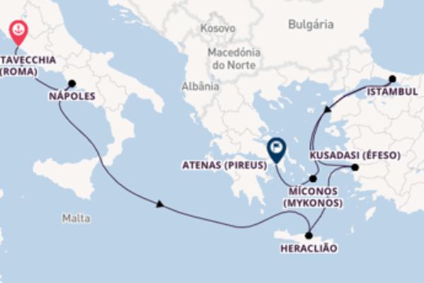 Agradável viagem de 8 dias com a Princess Cruises