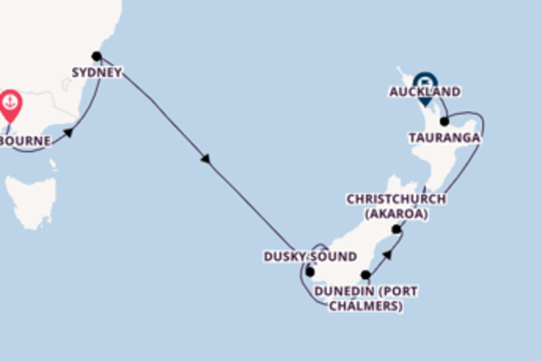 Expedition with the Celebrity Eclipse to Auckland from Melbourne