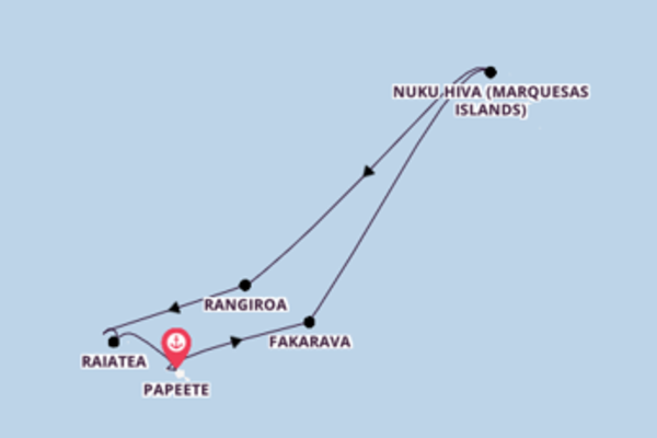 Travelling from Papeete, Tahiti with the Seven Seas Navigator