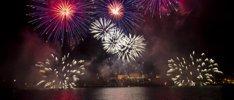 Feuerwerk über dem Rhein