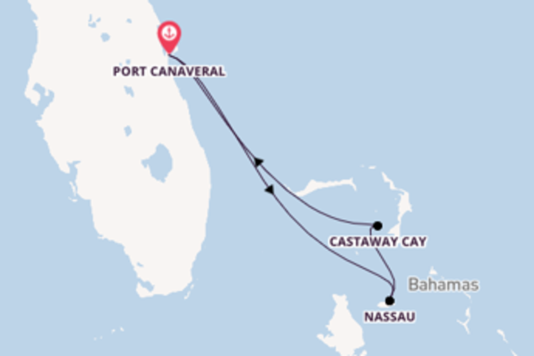 Cruise in 5 dagen naar Port Canaveral met Disney Cruise Line