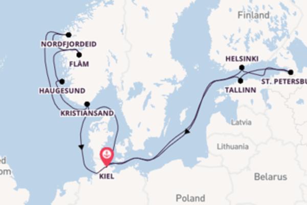 Vaar met de AIDAnova naar Kiel