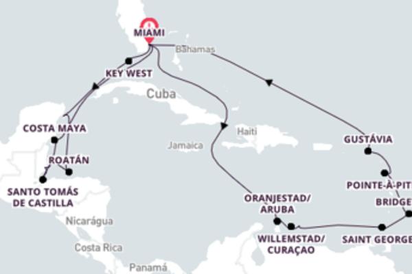 Divino cruzeiro de 23 dias até Miami, Flórida