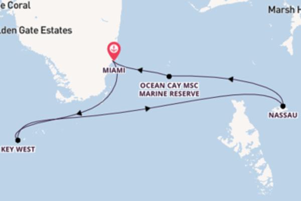 In 8 Tagen nach Miami über Nassau
