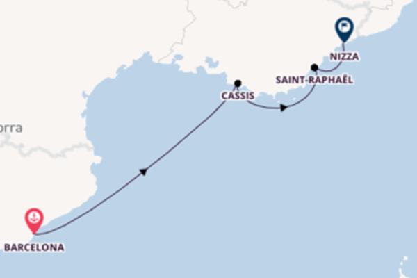 5-tägige Kreuzfahrt bis Nizza
