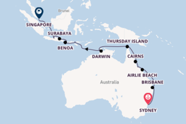 Voyage with Regent Seven Seas Cruises from Sydney
