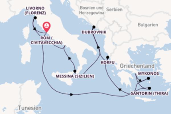11-tägige Kreuzfahrt ab Rom (Civitavecchia)