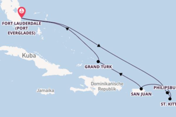 Entdecken Sie 9 Tage Philipsburg und Fort Lauderdale (Port Everglades)