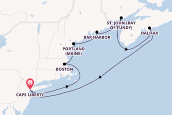 Cape Liberty und Boston erkunden