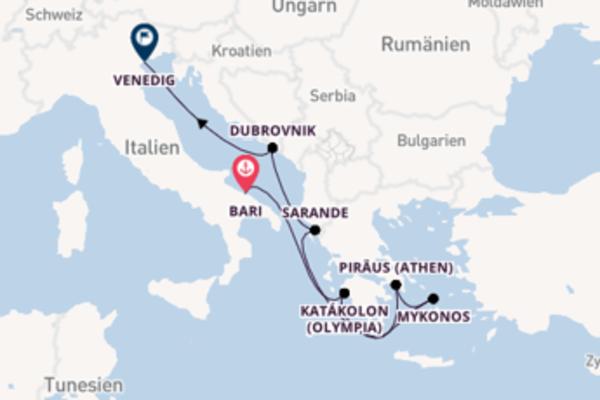 7 Tage Mittelmeer Kreuzfahrt