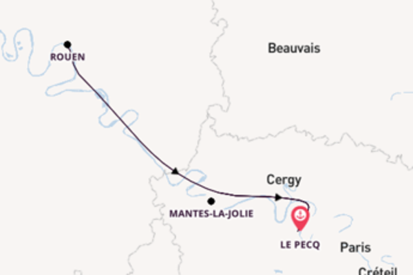 5-daagse cruise naar Mantes-la-Jolie