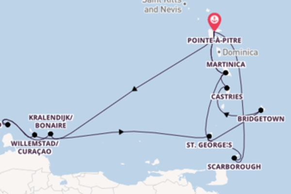 A bordo di Costa Fascinosa  da Pointe-à-Pitre