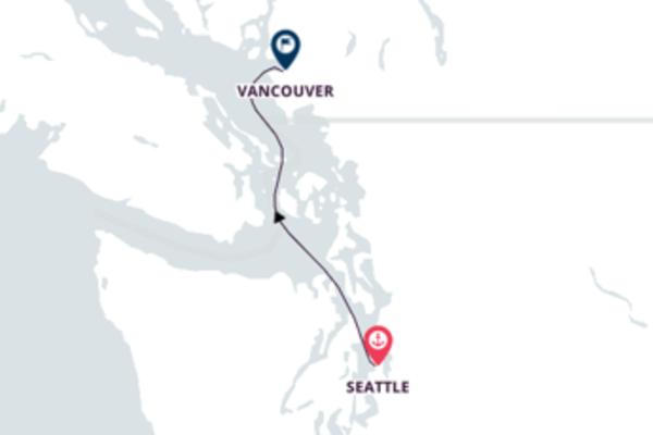 Agradável cruzeiro até Vancouver