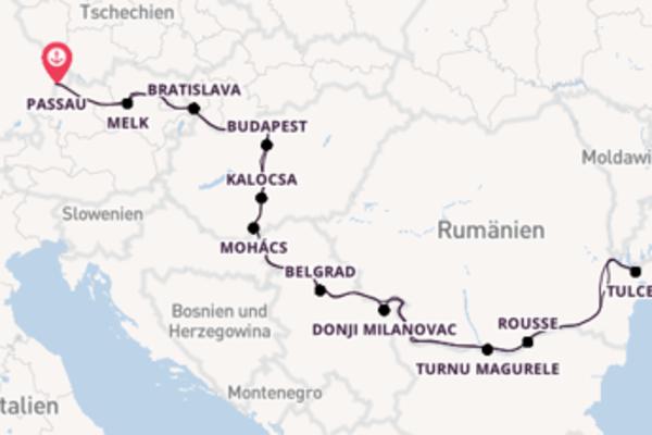 Begeisternde Kreuzfahrt über Budapest ab Passau