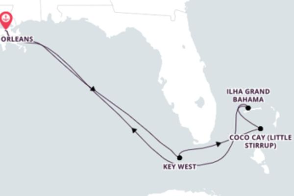 Jornada de 8 dias até Nova Orleans com o Majesty of the Seas