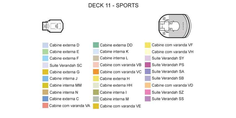 Zuiderdam Deck 11 - Sports