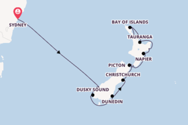 Cruise naar Auckland via Christchurch