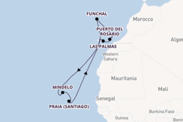 Ga mee op de Mein Schiff 3 naar Santa Cruz de Tenerife
