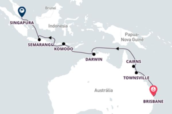 Inigualável viagem de 17 dias a bordo do Silver Muse