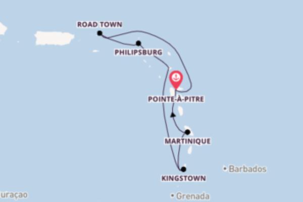 8-daagse cruise vanaf Pointe-à-Pitre