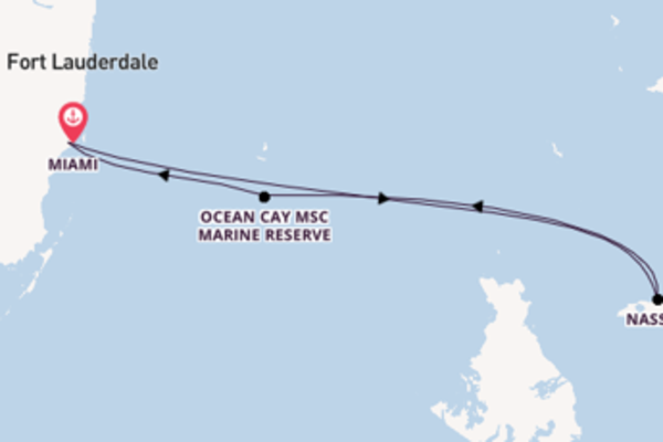 Journey with MSC Cruises from Miami