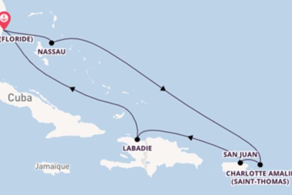 Incontournable croisière vers Miami via Nassau