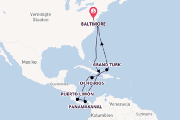 Erkunden Sie Panamakanal ab Baltimore