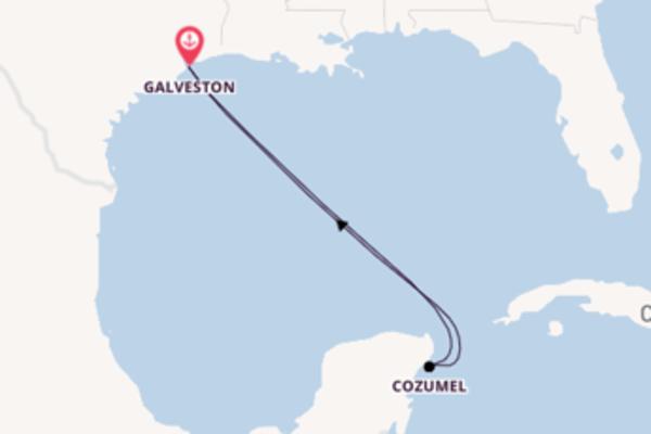 6 jours pour découvrir Cozumel à bord du beateau Carnival Breeze