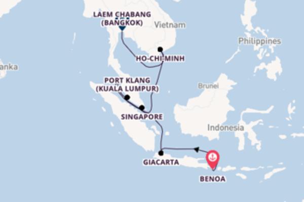 Lasciati incantare da Singapore arrivando a Laem Chabang (Bangkok)
